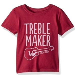 Life is Good Wild Cherry 2T Treble Maker T-shirt